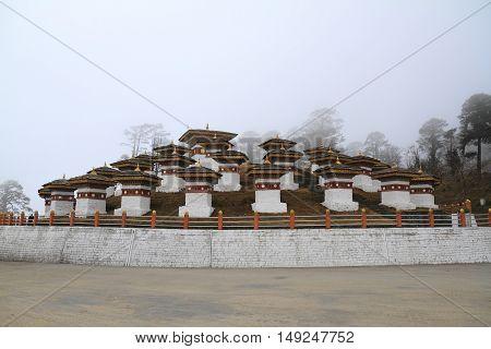 108 Stupa On Dochula Pass