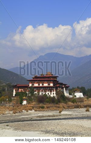 The Punakha Dzong is the second oldest and second largest dzong in Bhutan