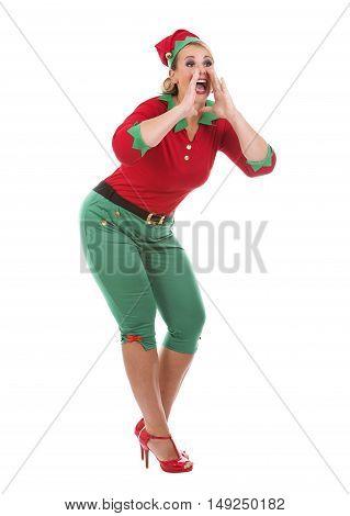 Blond Elf Female Calling