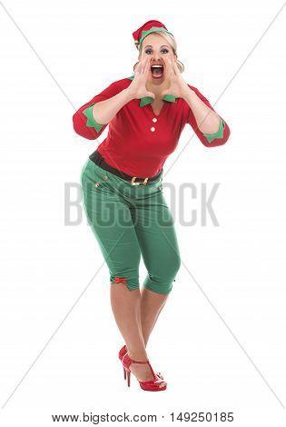 Blond Elf Female Shouting