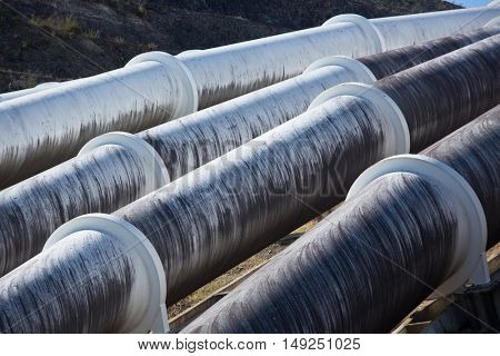 Water pipelines to Hydro-Electric power station in Australia's Snowy Mountains