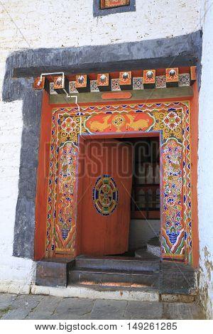 Door Of Jakar Dzong