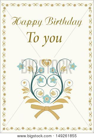 Happy birthday to you beautiful editable and scaleable vector illustration