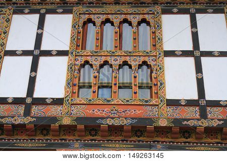 Painting Work At The Dzong