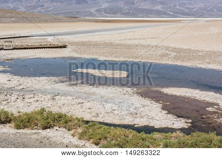 Badwater pool in Death Valley National Park, California