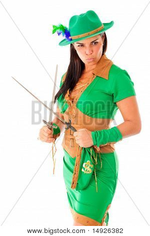 Sexy Woman In Green