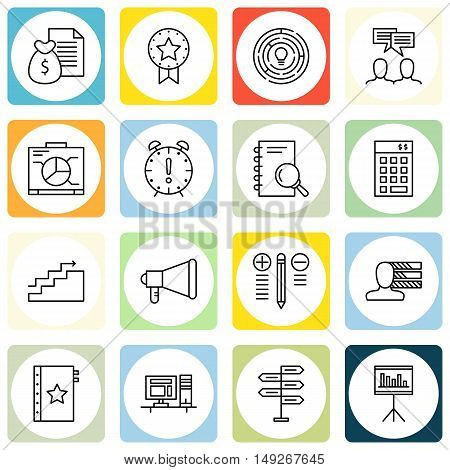 Set Of Project Management Icons On Personality, Team Meeting, Award And More. Premium Quality Eps10