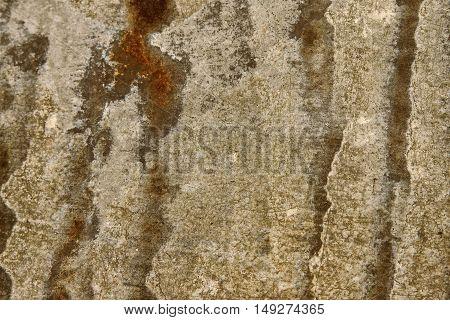 Close Up Rusty Galvanize Iron