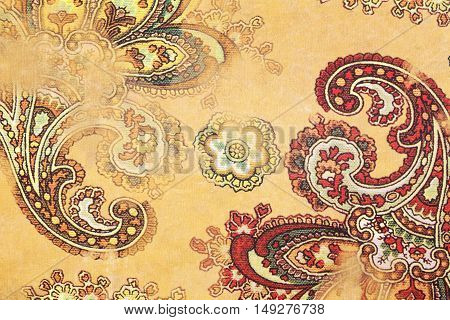 Close up of paisley pattern paper, texture background