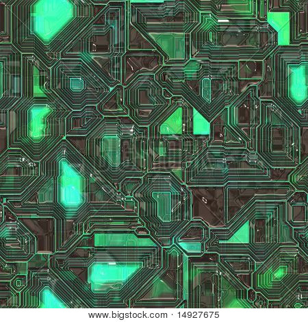 Abstract high tech circuitry background wallpaper illustration poster