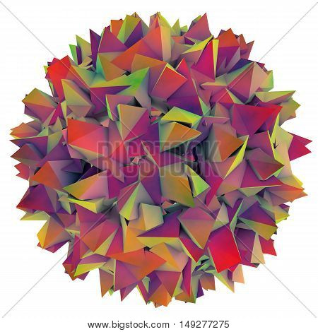 Low-polygonal model of virus. Hepatitis B virus. 3D illustration poster