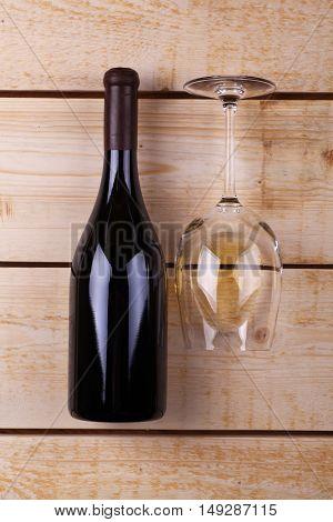 White Wine On Wood