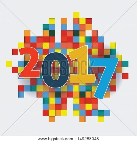 New Year background 2017 abstract image.