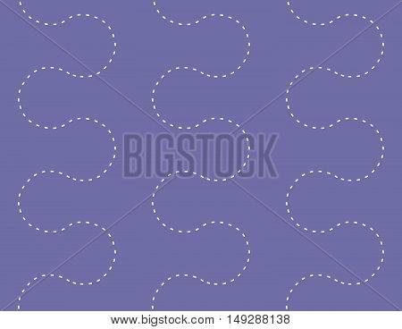 Seamless Geometric Dots Path Decorative Pattern Background