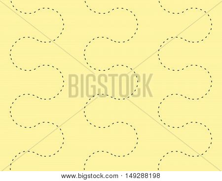 Seamless Geometric Dot Path Decorative Pattern Background