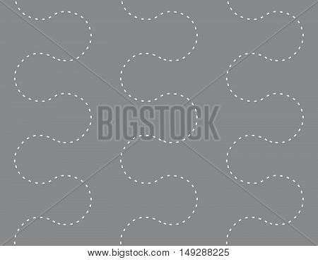 Seamless Endless Dots Path Decorative Pattern Background