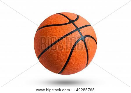 Basketball ball over white background. Basketball ball isolated