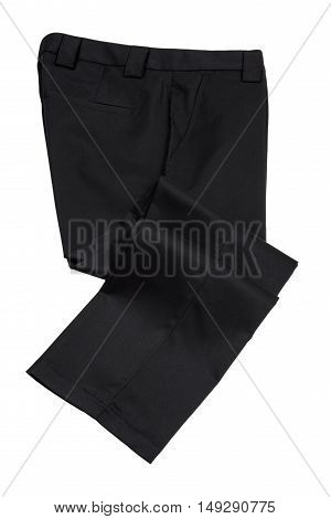 Pants Trousers for Man Black Color on White Background