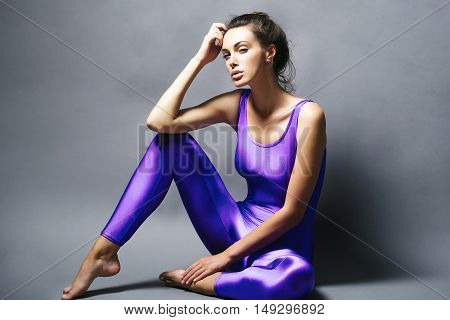 Pretty Sporty Woman In Jumpsuit