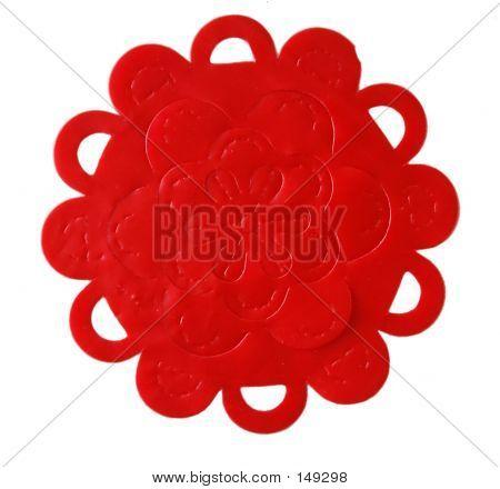 Red Plastic Flower