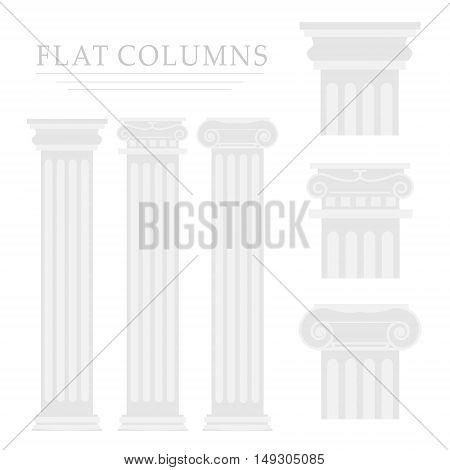 Roman column. Illustration on white background for design