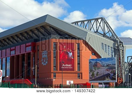 LIVERPOOL UK 17TH SEPTEMBER 2016. Liverpool Football Club's new £114 million stand nearing completion