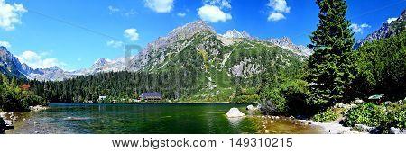 Popradske Pleso Lake