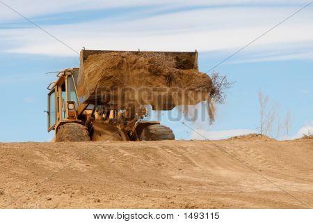 Bulldozer Unloading