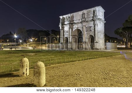 Arch of Konstantin in the evening, Rome, Italy, touristic destinations