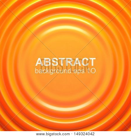 Orange rippled background. Vector illustration EPS 10