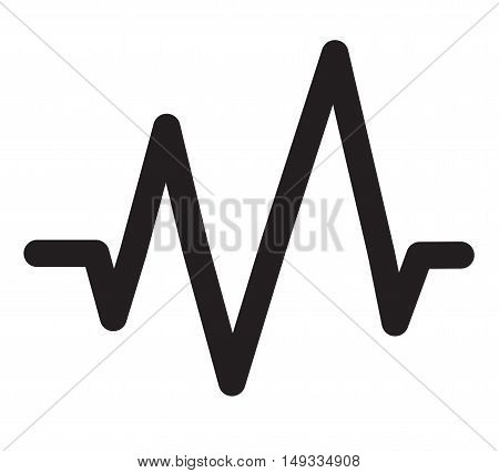 Sound Wave Icon, Sound Wave Icon on white background