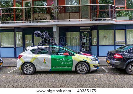 ROTTERDAM, THE NETHERLANDS -  SEPTEMBER 17: Google Street View camera car in Rotterdam, 17th of September, 2015.