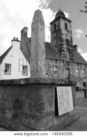 A view of the old townhouse in Medieval Culross