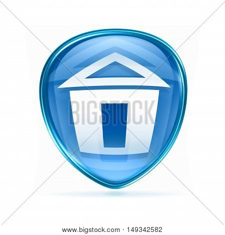 Home Icon Blue, Isolated On White Background