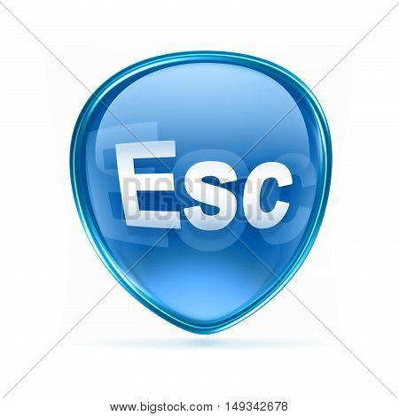 Esc Icon Blue, Isolated On White Background