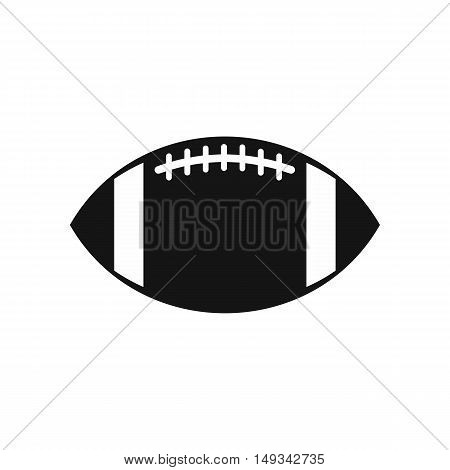 Rugby ball icon in simple style on a white background vector illustration