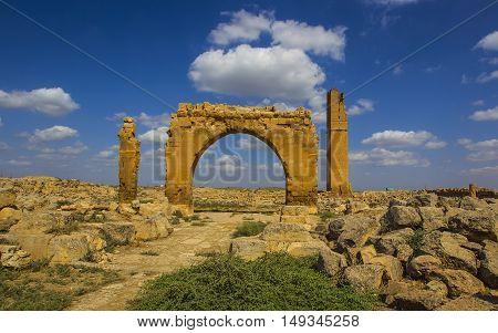 The ruins of Harran University, Sanlıurfa city, Turkey,