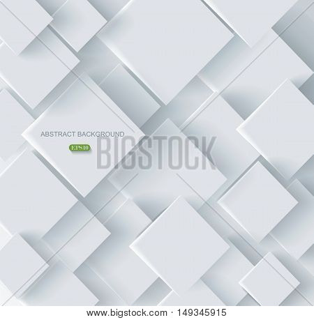 Vector Abstract geometric paper  background, vector illustration