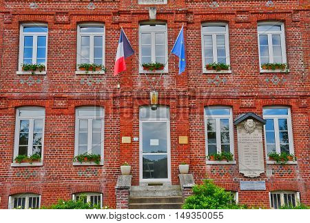 Saint Germain sous Cailly France - june 23 2016 : the city hall