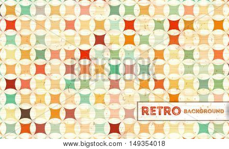 Abstract geometric retro background with colorful squares. Vintage geometric background. Vector Illustration