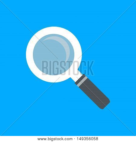 Magnifying glass icon for serach and research