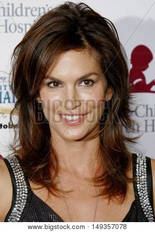 Cindy Crawford at the 'Runway For Life' Benefiting St. Jude Children's Research Hospital held at the  Beverly Hilton in Beverly Hills, USA on September 15, 2006.
