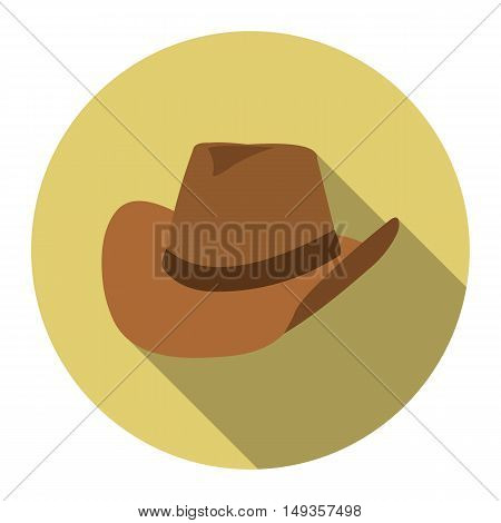 Cowboy hat icon cartoon. Singe western icon from the wild west collection.
