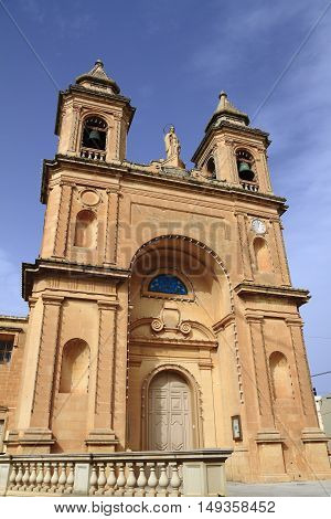 The Church of Our Lady of Pompei is a Roman Catholic parish church located in the fishing village of Marsaxlokk in Malta.