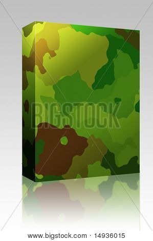 Software package box Camouflage pattern jungle colors design graphic wallpaper texture