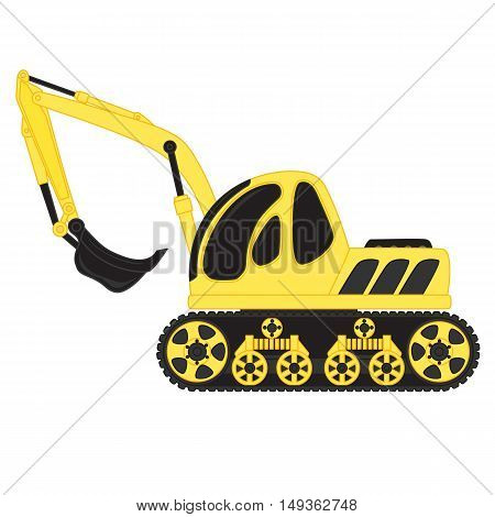 Cartoon dredge toy on white background. Vector illustration
