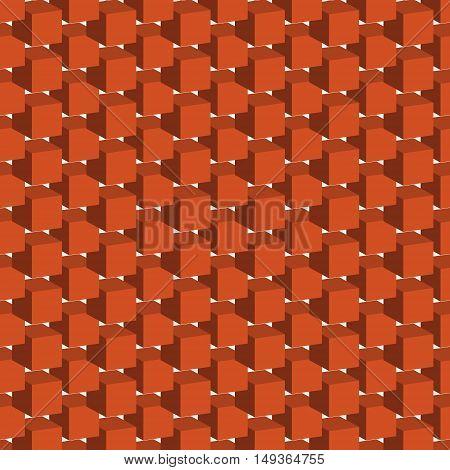 Seamless pattern with geometric figures bulky orange