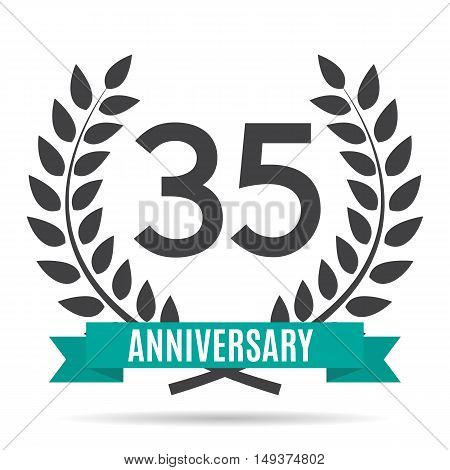 Template 35 Years Anniversary Vector Illustration EPS10