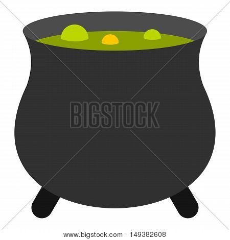 Boiler sorcerer icon in flat style isolated on white background. Cooking symbol vector illustration