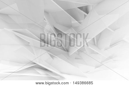 Chaotic Polygonal Structure. 3D Illustration Cg